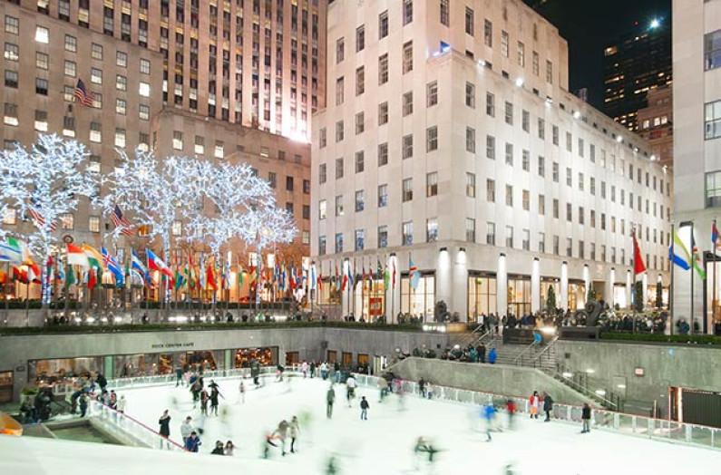 New York City zur Weihnachtszeit
