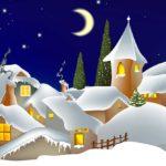 Burg im Schnee